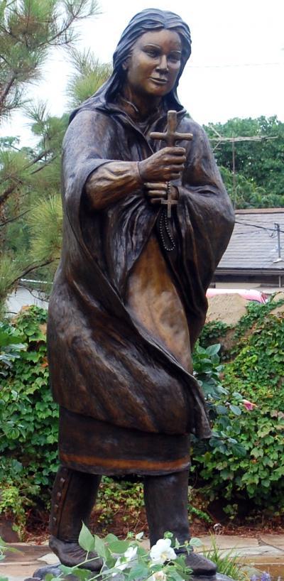 Saint Kateri honored in Pawhuska, canonized by Pope Benedict XVI
