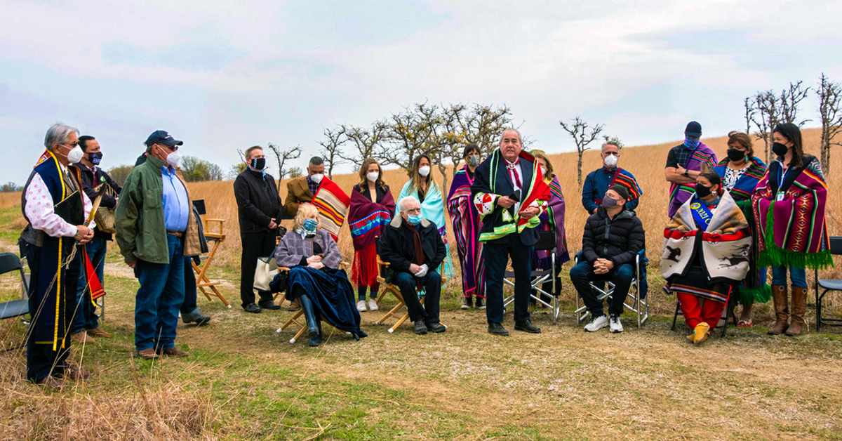 Osage Nation conducts blessing for cast and crew of Killers of the Flower Moon