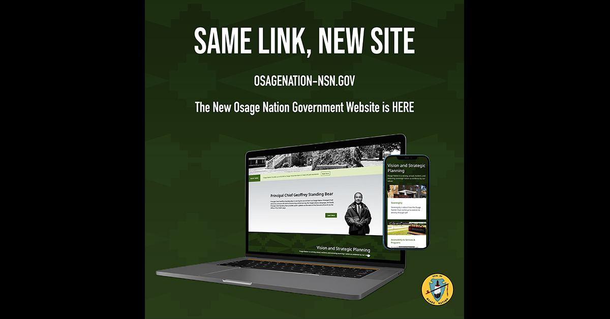 Osage Nation launches website with new look to access information, gov't services