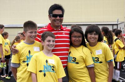 Notah Begay III visits Osage Nation for soccer clinic