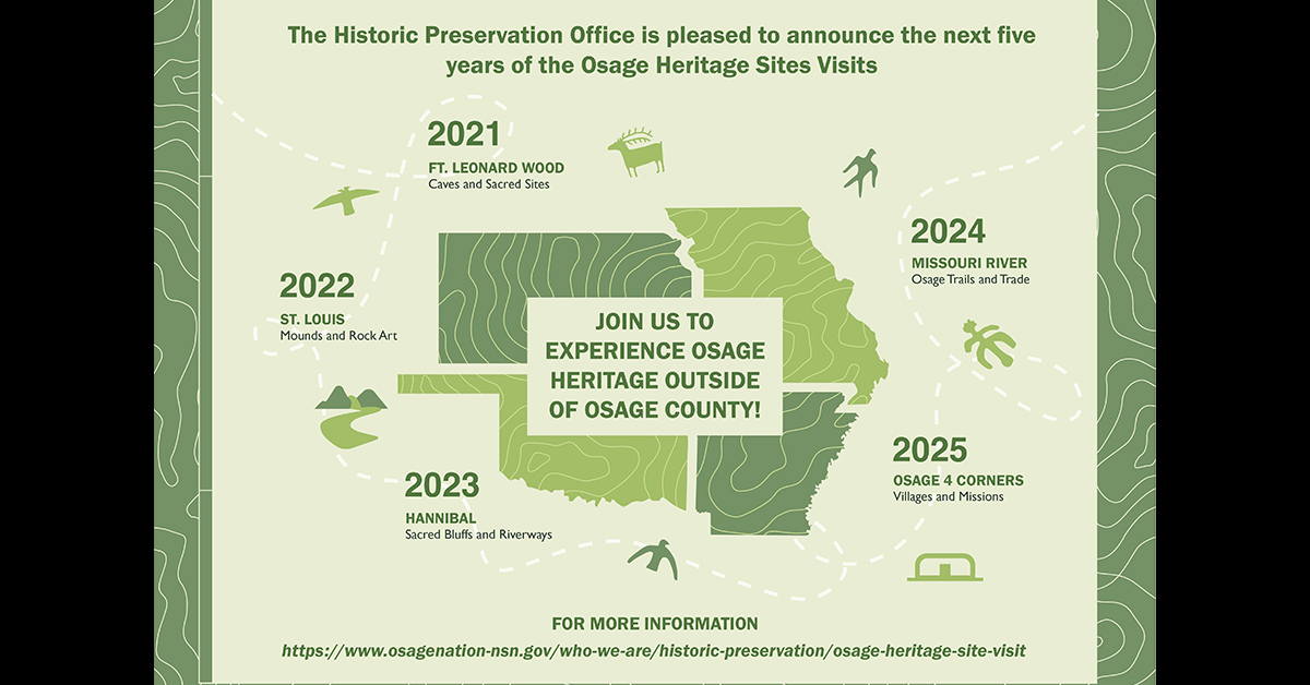 Historic Preservation Office announces locations for sites visits for next five years