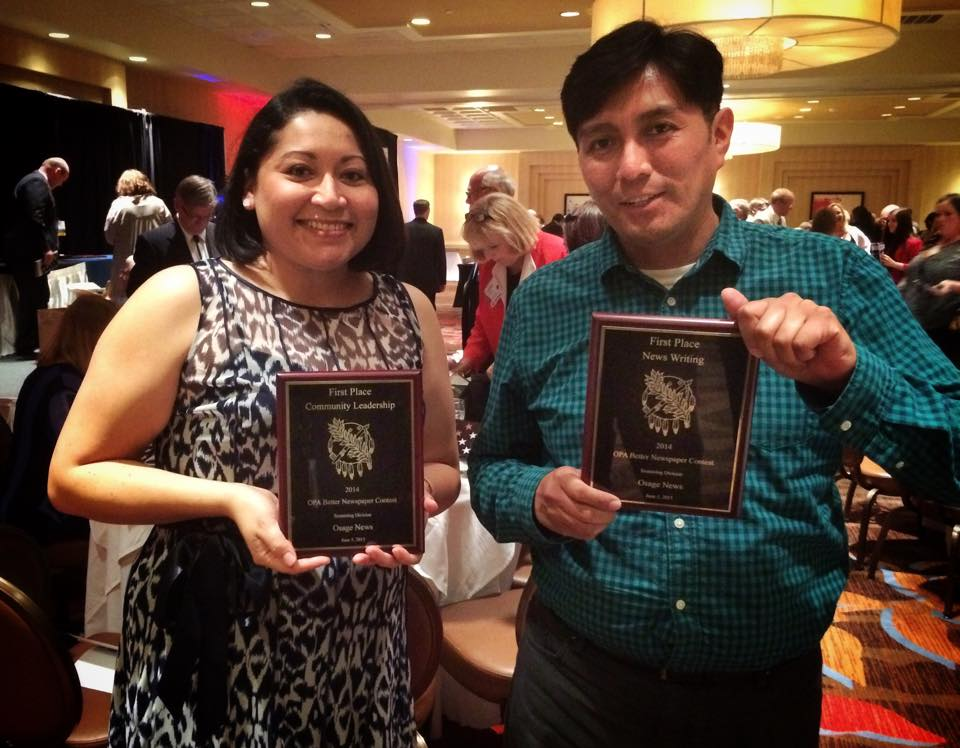 Osage News wins four Oklahoma Press Association awards