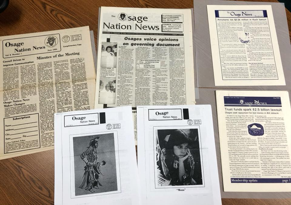 The Osage News, covering the Osage people for 42 years
