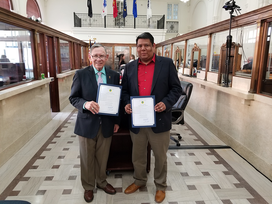 Two outgoing Congressmen honored with citations of commendation