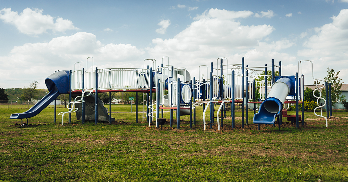 Wakon Iron playground equipment installed in Pawhuska Village