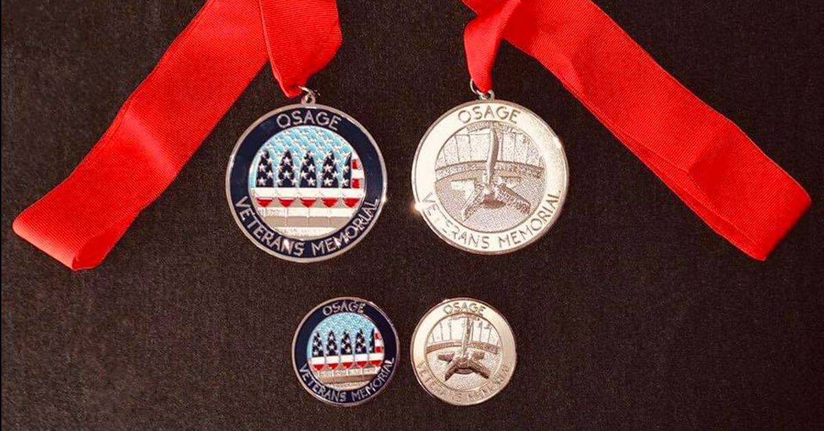 Commemorative Osage Veteran Memorial coins, medallions for sale