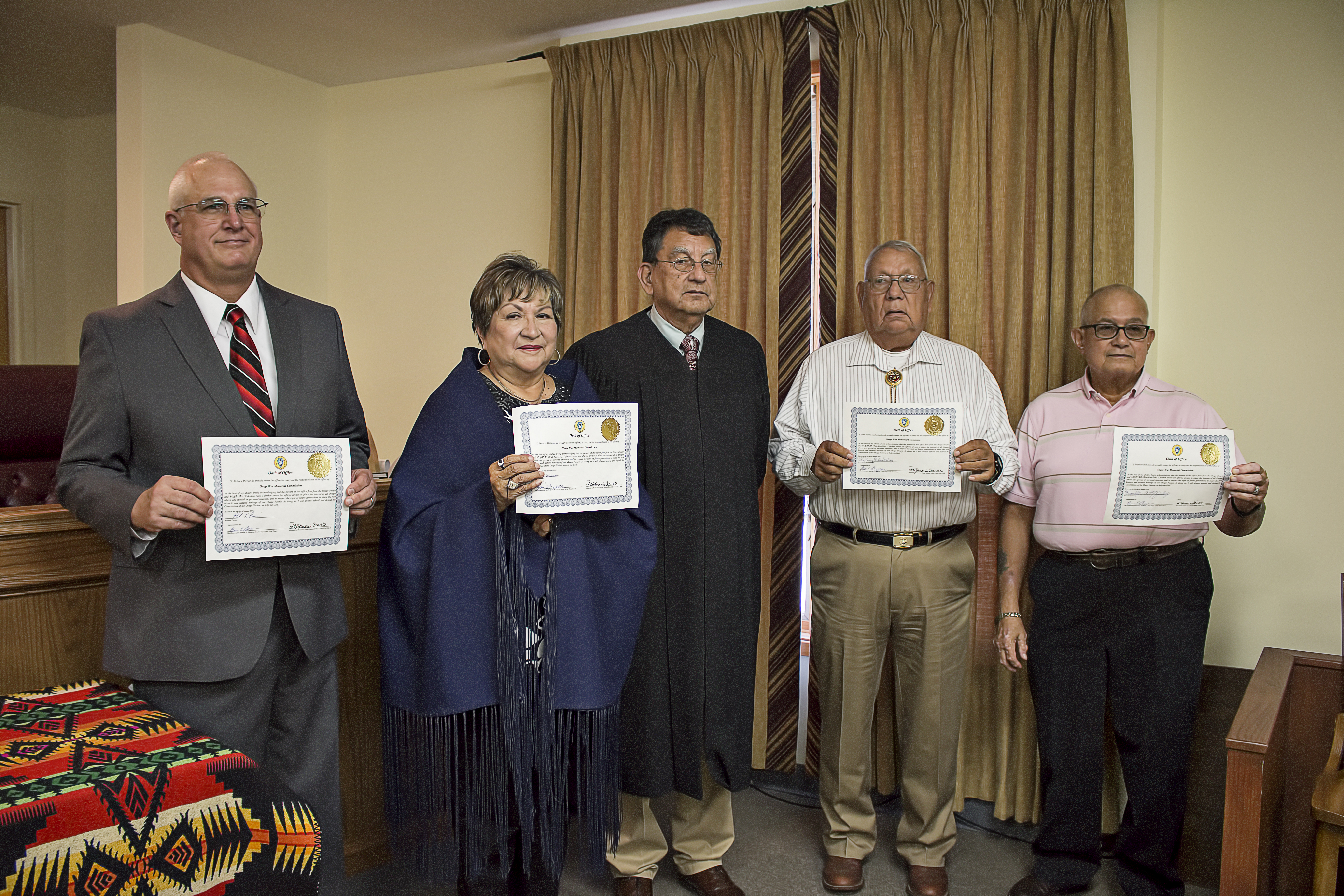 Osage War Memorial Commission members take their oaths