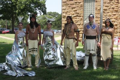 Osage designer displays creations to tribal members