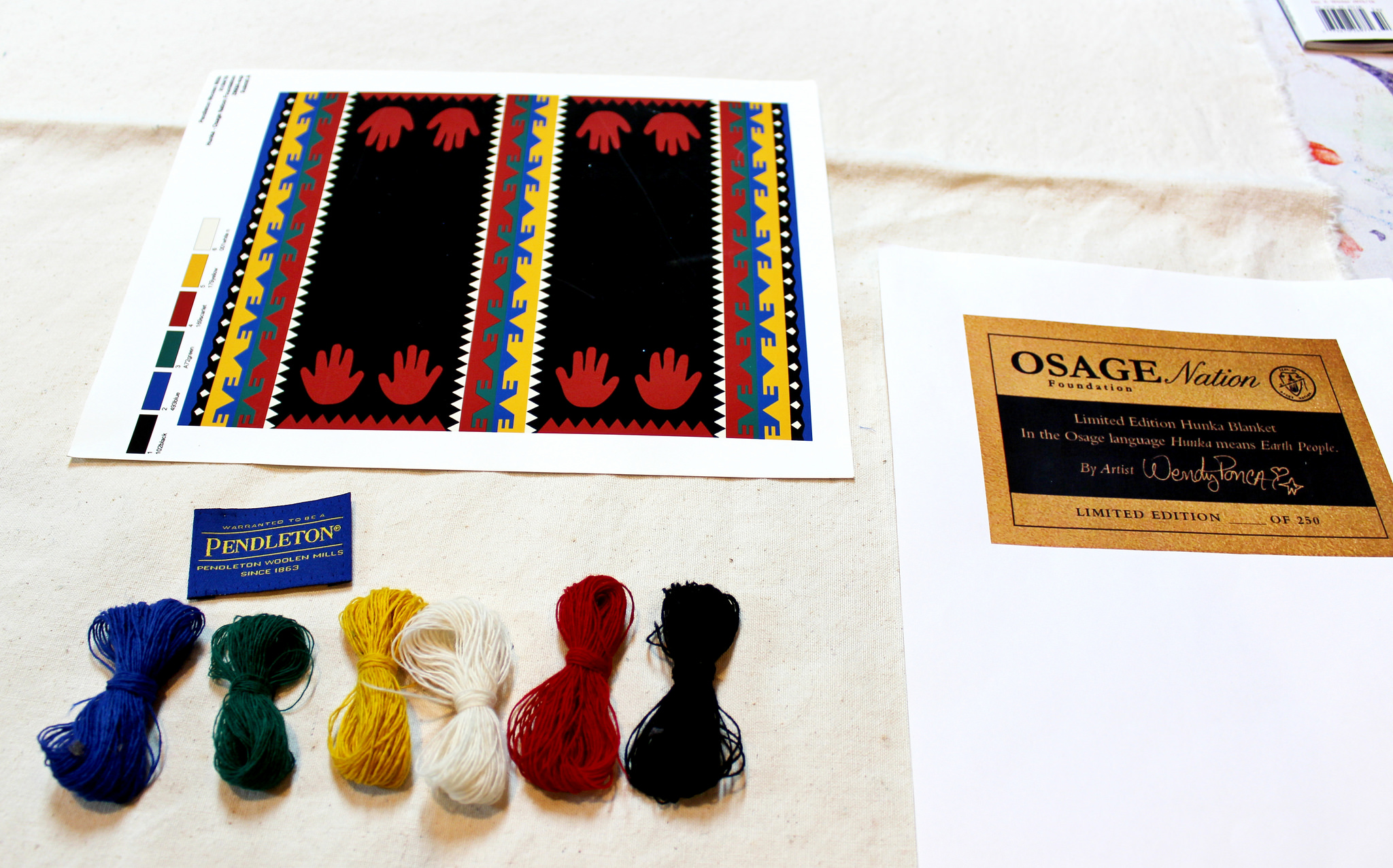 Wendy Ponca designs Pendleton blanket for the Osage Foundation