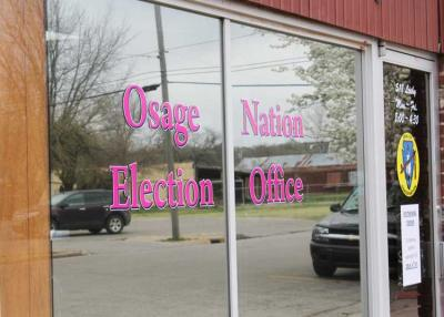 Three Osages file candidacy papers seeking election