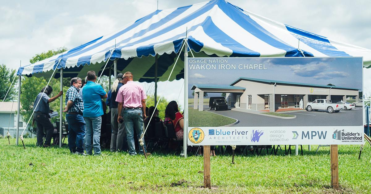 Pawhuska Village breaks ground, celebrates start of new chapel project