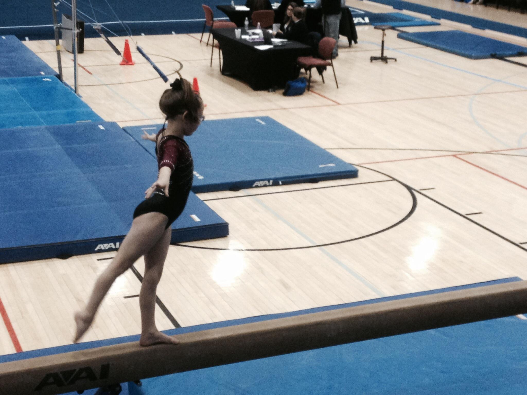 First grade gymnast from Dewey headed to State Championships