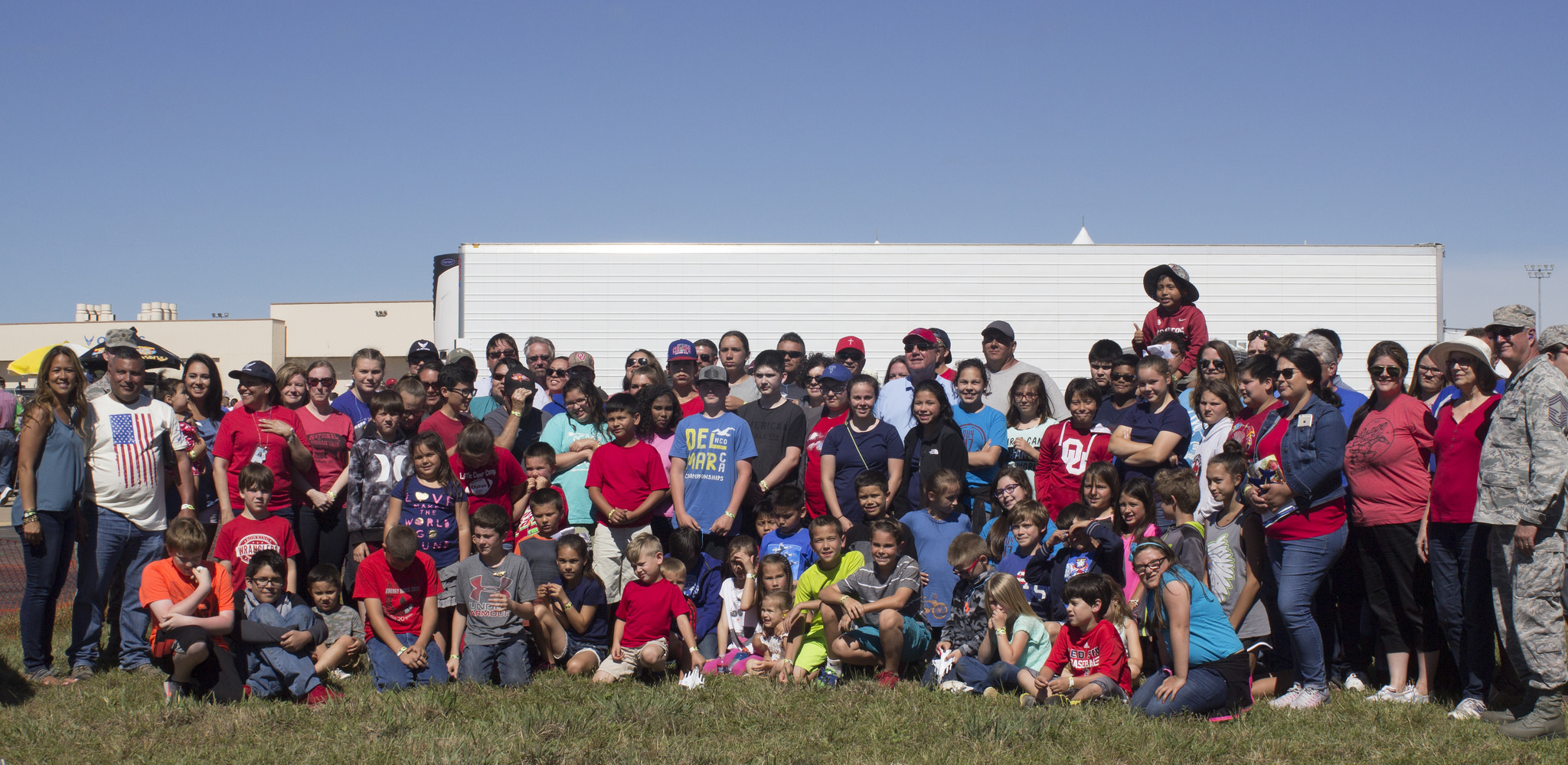 Osage Nation takes over 50 children to Star Spangled Salute Air Show at Tinker Air Force Base