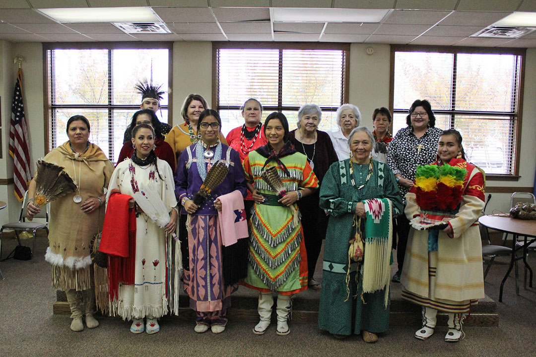 Osage elder hosts Native American tribal fashion show