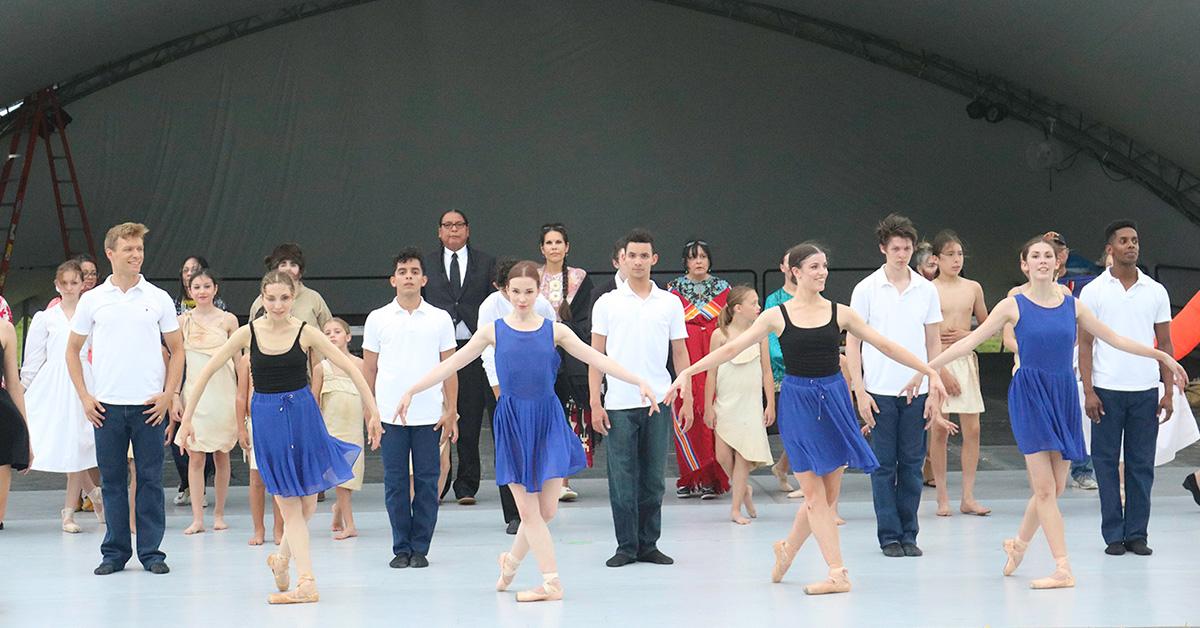 Osage ballet performs dress rehearsal in Kansas