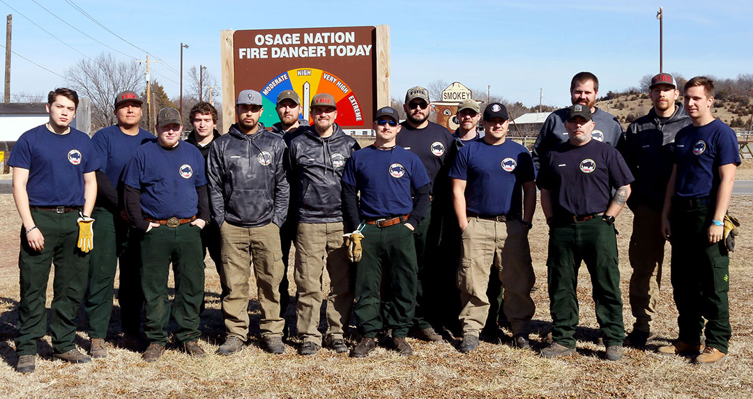 Out-of-state firefighters come to the aid of Osage Nation's Wildland Fire Management