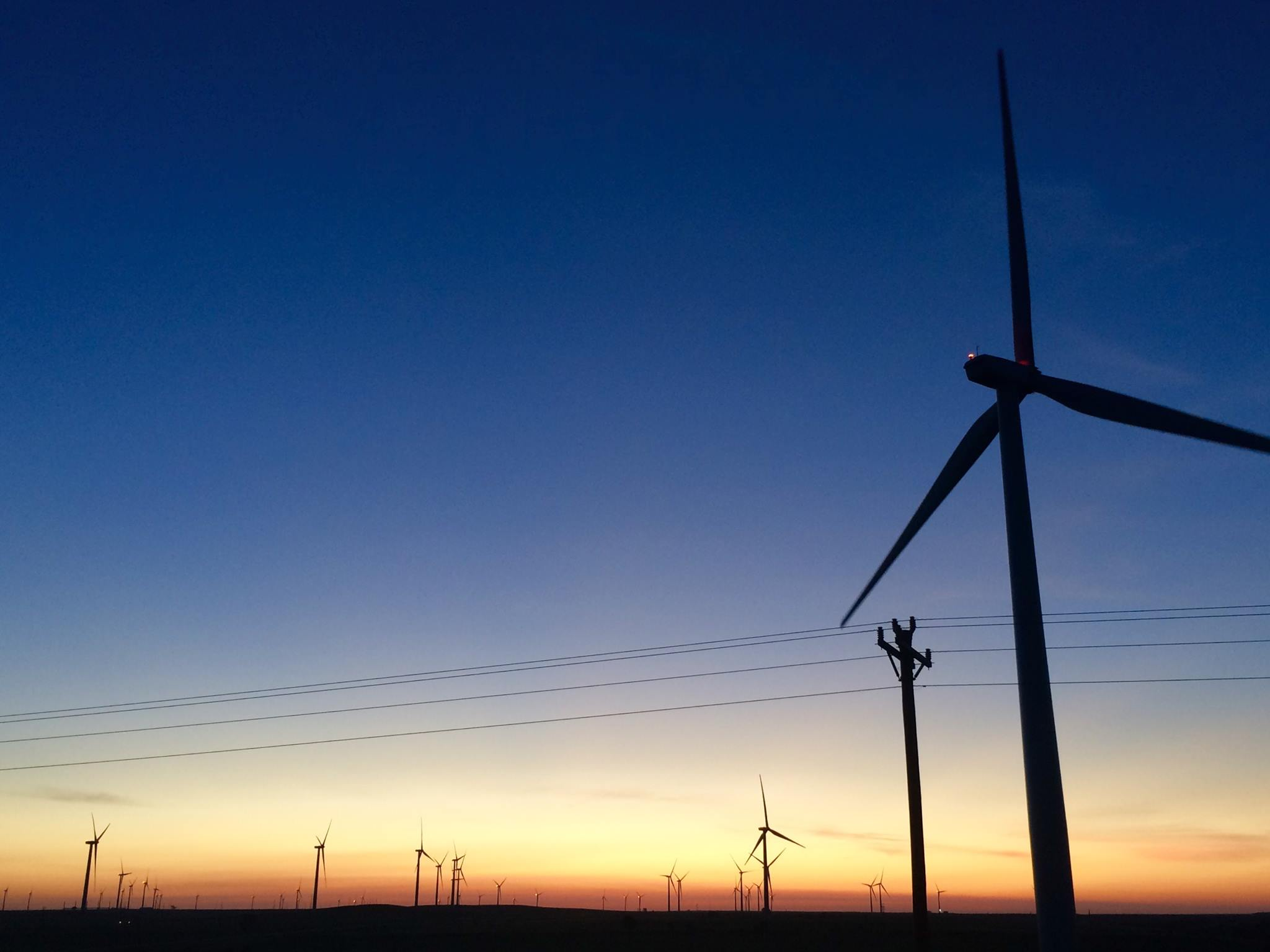 Osages gather for Sunrise Morning Prayer at wind farm site