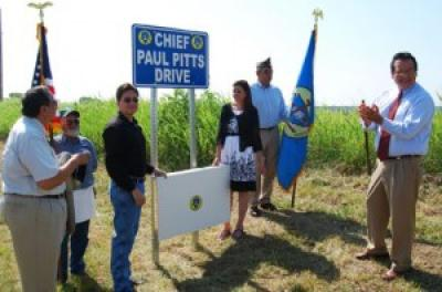 Road dedication honors late Principal Chief Paul PittsA road running past the allotment of late Osage Principal Chief Paul Pitts has been dedicated in his honor