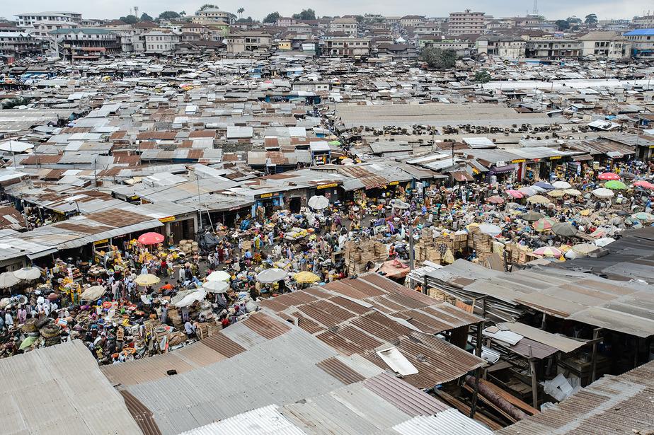 Street Markets Of Kumasi Ghana