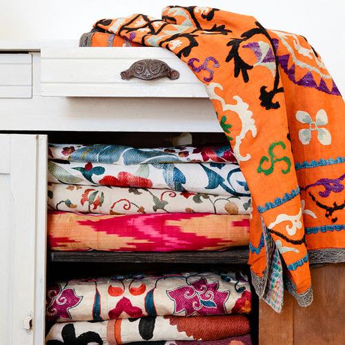 silk road ikat bedspread. Black Bedroom Furniture Sets. Home Design Ideas