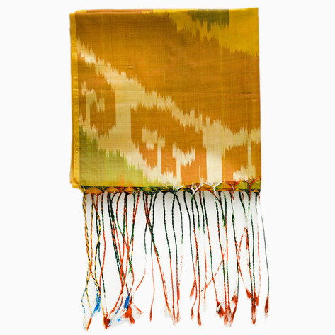 Safflower Silk Ikat Scarf
