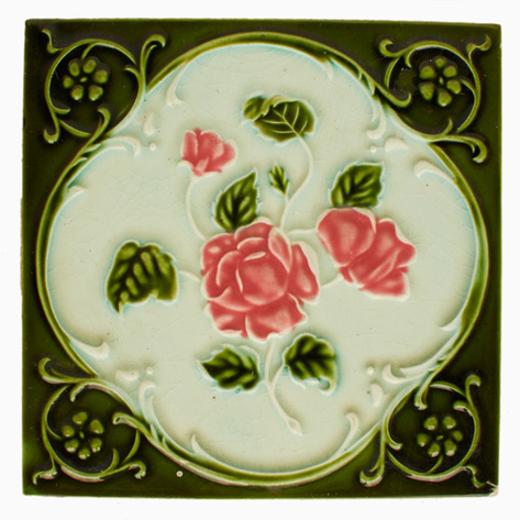 Dewi Antique Art Nouveau Tile