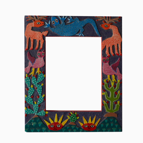 """Here Comes the Sun"" Mexican Folk Art Frame"