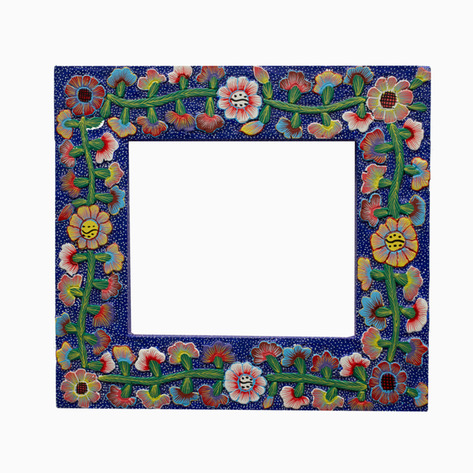 """The Secret Garden"" Mexican Folk Art Frame"