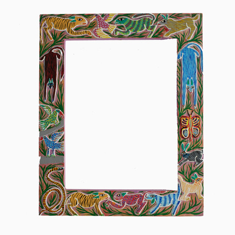 """In the Jungle"" Mexican Folk Art Frame"