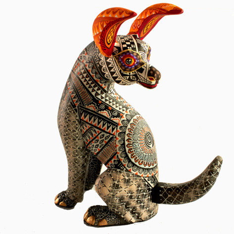 Xolo Dog Alebrije Sculpture