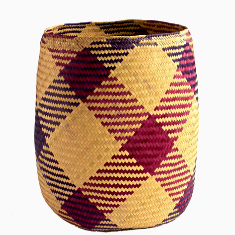 Valería's Pink & Purple Woven Baskets