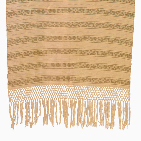 Olive Diamond Linen Table Runner