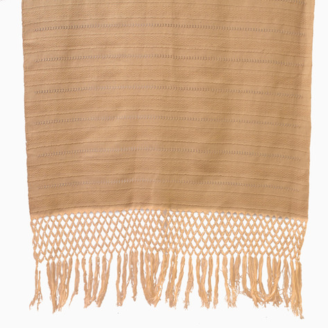 Beige Diamond Linen Table Runner