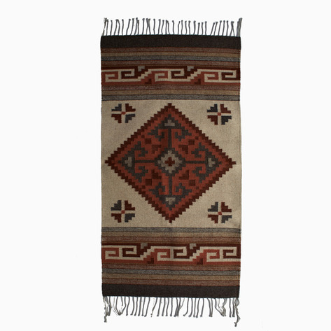 Earthtone Diamond Wool Rug
