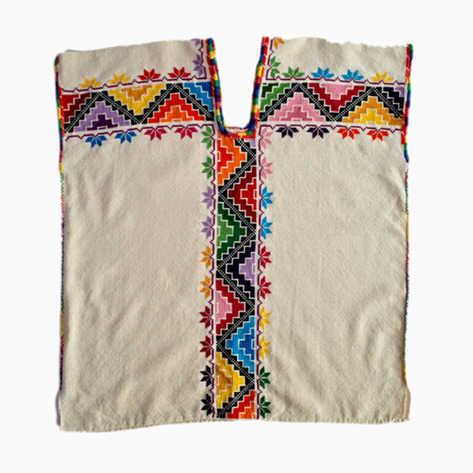 Embroidered Huipil Blouse