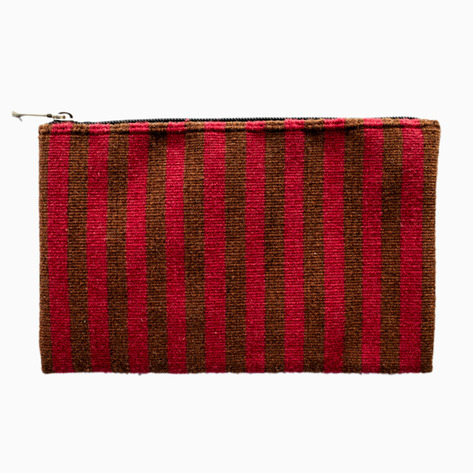 Magenta Oaxaca Striped Purse