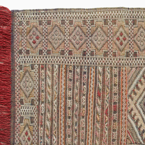 'Poppy and Pomegranate' Zaire Berber Kilim