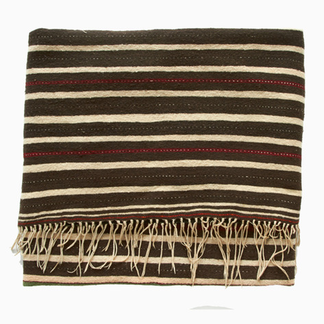 Antique Striped Handira Berber Blanket
