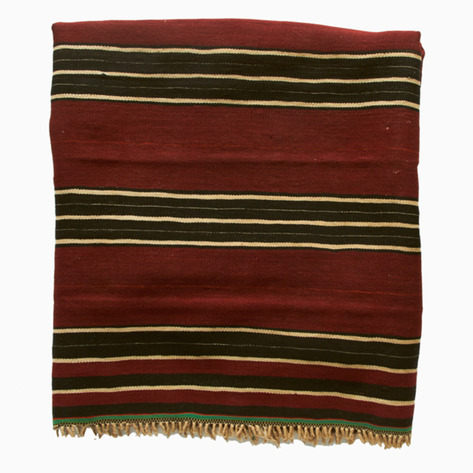 Imlil valley Antique Striped Berber Blanket