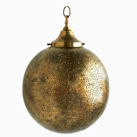 Bronze Globe Filigree Light