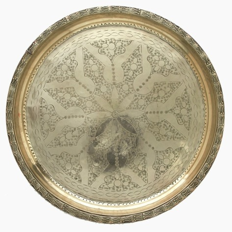 Star of Understanding Silver Sinia Tea Tray