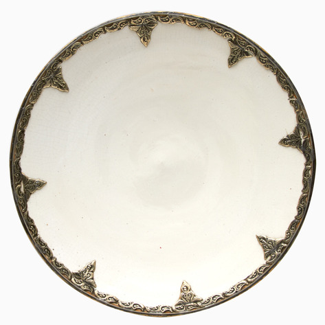 Eight Petals of Peace Ceramic Plate