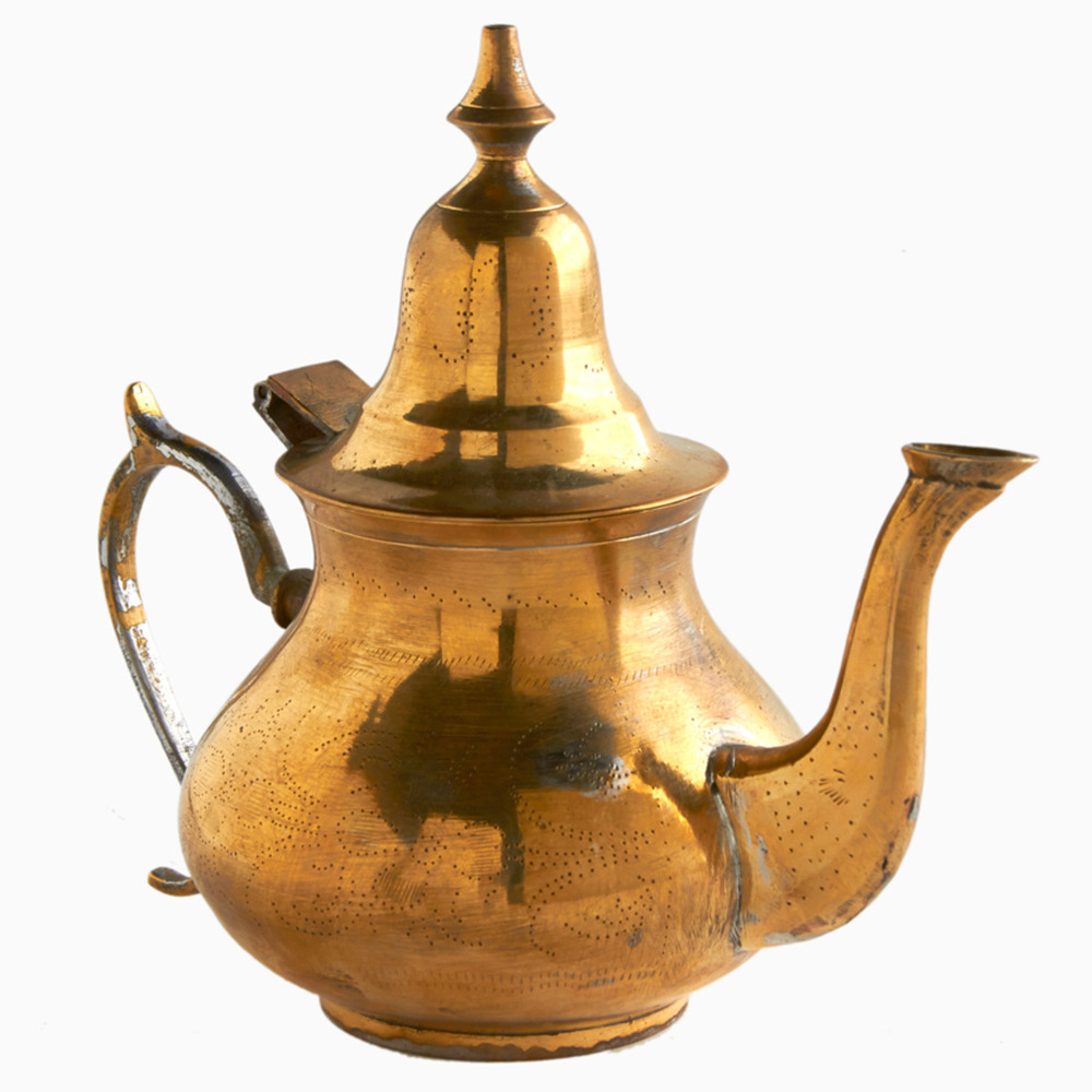Golden sahara moroccan teapot shop