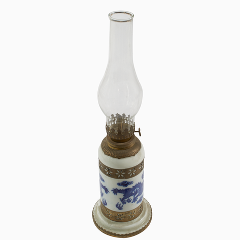 Dragon Ceramic Oil Lamp