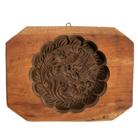 Lotus In The Lake Wooden Cookie Mold