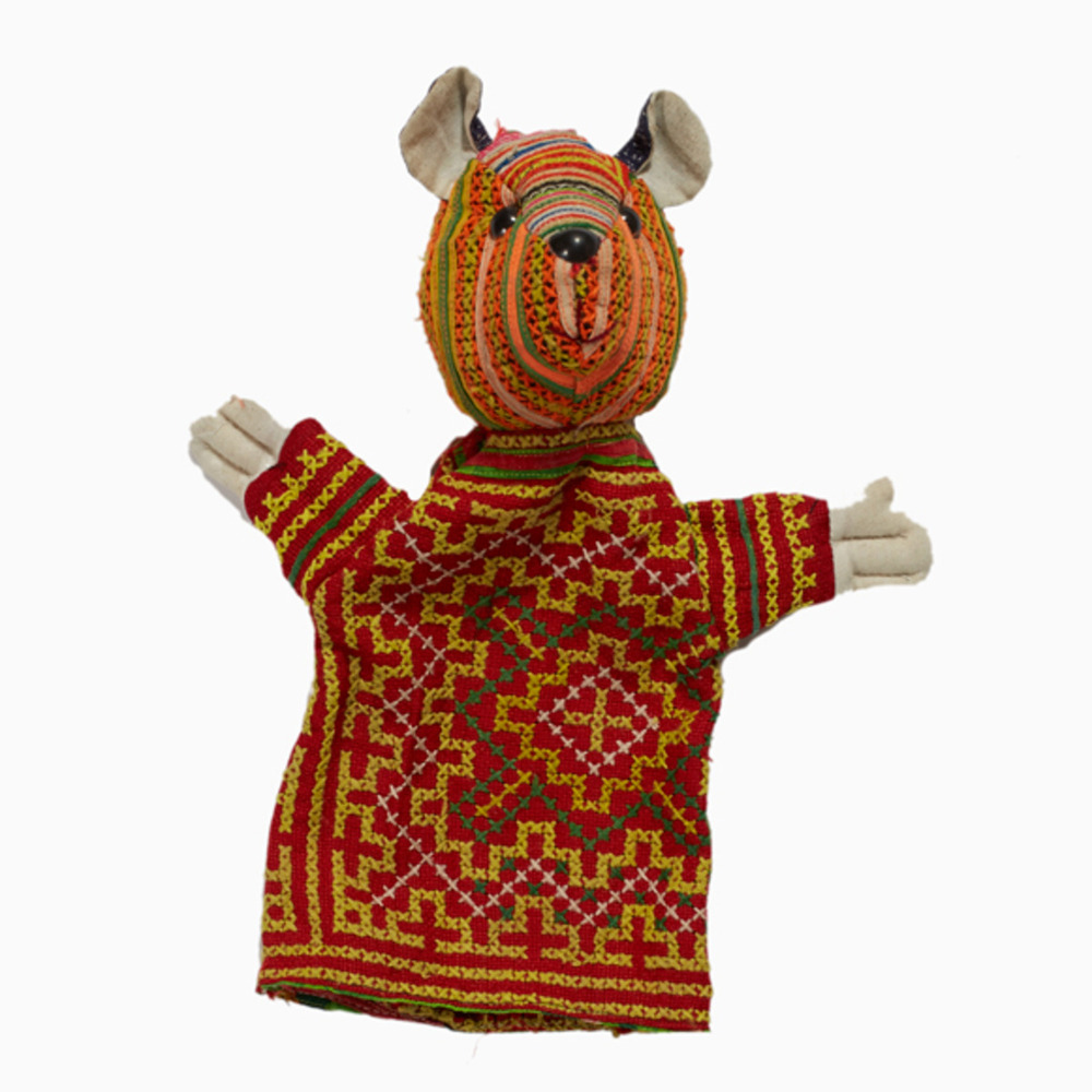 Hmong Embroidered Teddy Bear Puppet