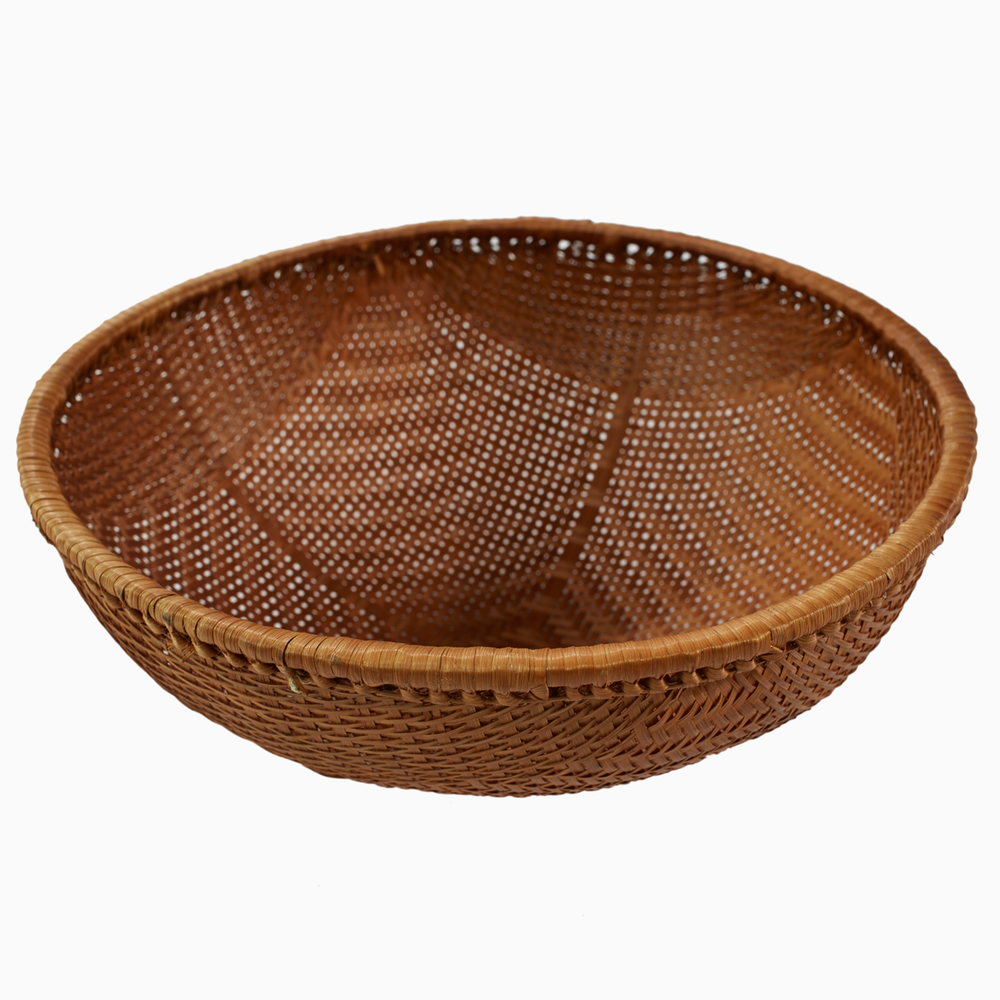 Woven Rattan Bowls