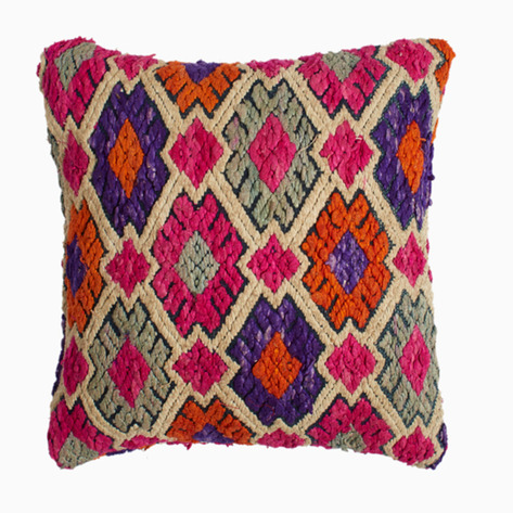 Multi-colored Quilted Tai Pillow