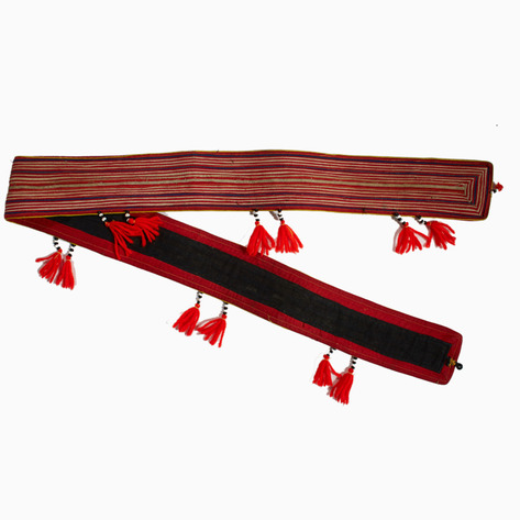 Dao Striped Belt with Tassels