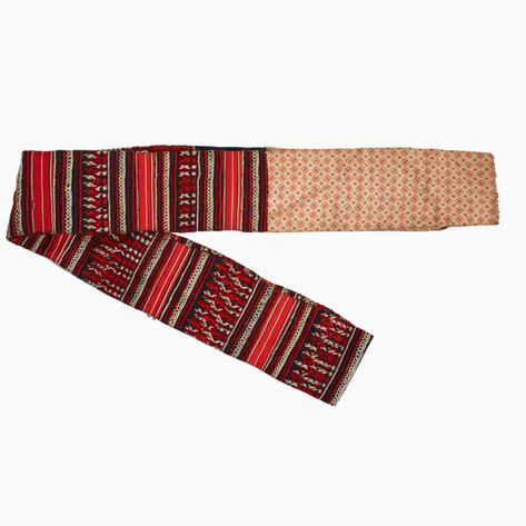 Peach Striped Hmong Belt